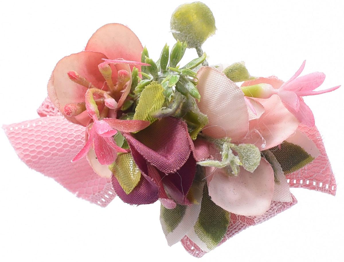 Заколка для волос Malina By Андерсен Адриана, цвет: розовый. 11803тб22 заколка hairagami хеагами одинарная цвет черный розовый