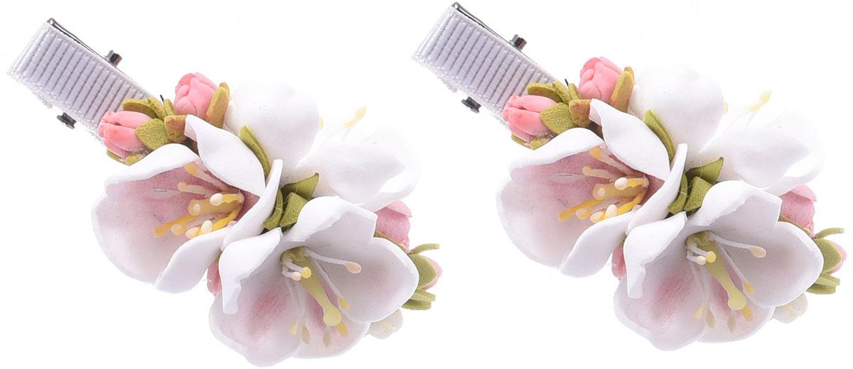 Заколка для волос Malina By Андерсен Мирабель, цвет: розовый, 2 шт. 11805тм01 гребни bizon гребень диадема заколка