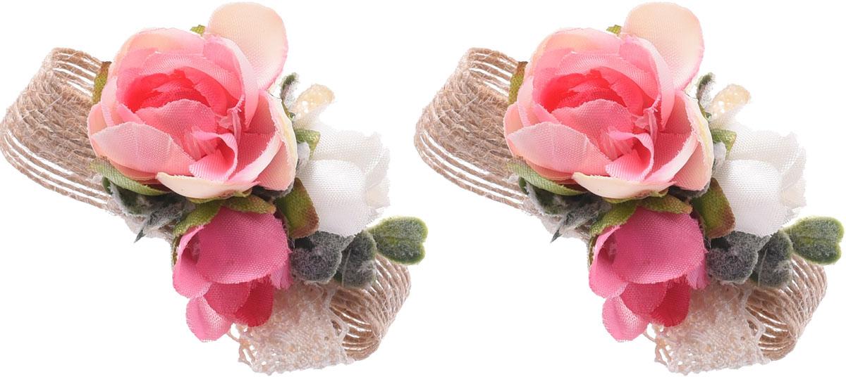 Резинка для волос Malina By Андерсен Фрезия, цвет: розовый, 2 шт. 11807рм1011807рм10