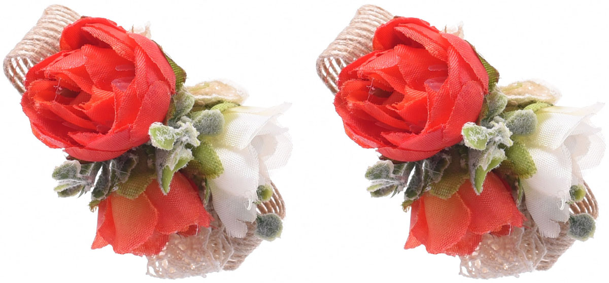 Резинка для волос Malina By Андерсен Фрезия, цвет: красный, 2 шт. 11807рм5311807рм53