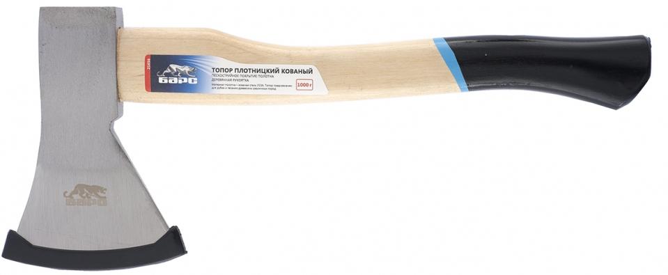 Топор предназначен для рубки и тесания древесины различных пород. Полотно топора изготовлено из инструментальной стали марки У13А. Твердость полотна на высоте до 25 мм от режущей кромки составляет 48-52 HRC. Материал топорища – высококачественная древесина твердых пород. Пескоструйная обработка полотна, эргономичная форма топорища и надежное крепление к нему головки обеспечивают эффективную, безопасную и комфортную работу с инструментом и его износостойкость. Полотно изготовлено из стали марки У13А. Твердость полотна на высоте 25 мм от режущей кромки – 48 – 52 HRC. Материал топорища – древесина твердых пород.