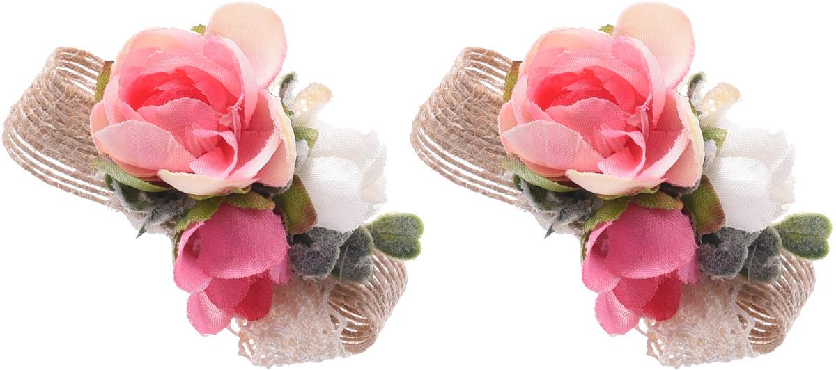 Заколка для волос Malina By Андерсен Фрезия, цвет: розовый, 2 шт. 11807тм10 заколка hairagami хеагами одинарная цвет черный розовый