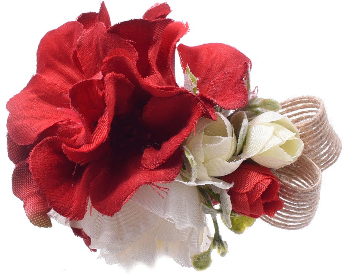 Заколка для волос Malina By Андерсен Флорентина, цвет: красный. 11808тб53 гребни bizon гребень диадема заколка