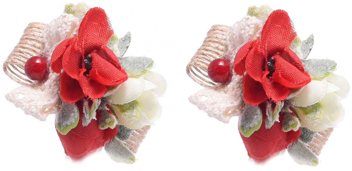 Заколка для волос Malina By Андерсен Флорентина, цвет: красный, 2 шт. 11808тм53 malina by андерсен пояс