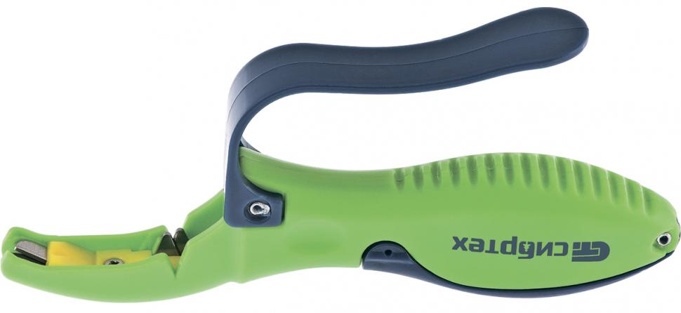 Предназначено для затачивания секаторов, садовых ножниц и ножей любого типа. Оснащено защитной кулисой для пальцев. Затачивающие камни – твердый сплав марки ВК-6.