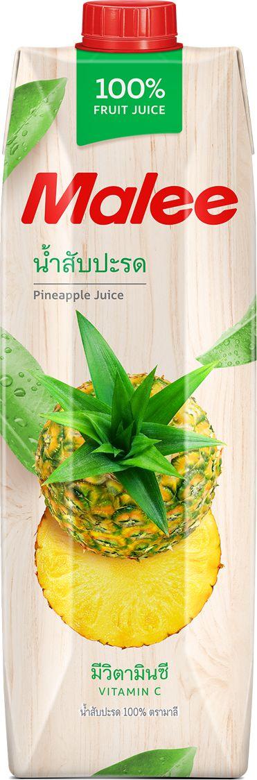 Malee Сок ананас прямого отжима, 1 л armajuice сок яблочный 0 33 л