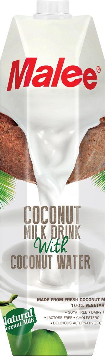 Malee Напиток кокосовое молоко, 1 л пастилки дыши с медом и корицей