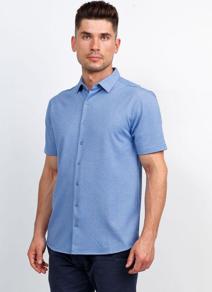 Рубашка мужская Greg, цвет: голубой. G143-M. Размер 56