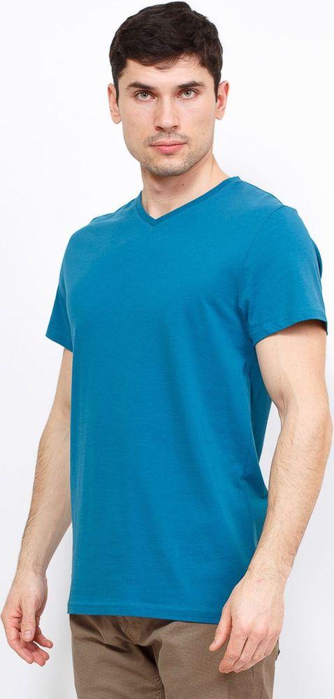 Купить Футболка мужская Greg, цвет: темно-бирюзовый. TS524V. Размер 46
