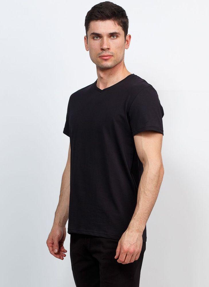 Футболка мужская Greg, цвет: черный. TS524V. Размер 52  - купить со скидкой