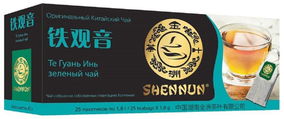 Shennun Те Гуань Инь чай зеленый пакетированный, 25 шт nano nano твердый кариес зубной пасты 210г свежий гуань инь чай