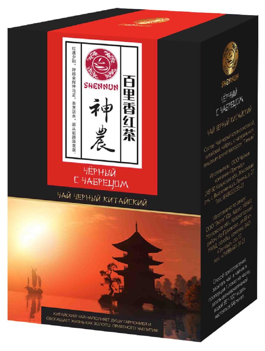Shennun чай черный с чабрецом листовой, 100 г чёрный чай серебряные ресницы 100 г