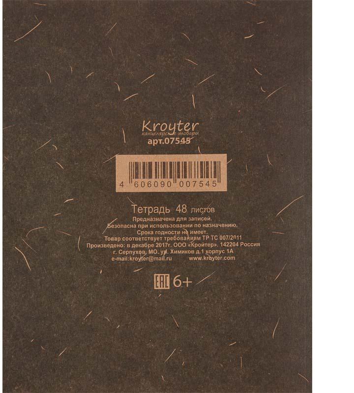Тетрадь общая Осень представлена в формате 205х165 мм. Блок сделан из офсетной бумаги плотностью 65 г/м2 и состоит из 48 листов в клетку, без полей. Цвет линовки - черный. Обложка тетради сделана из крафт-картона плотностью 145 г/м2. Тип скрепления - скоба.