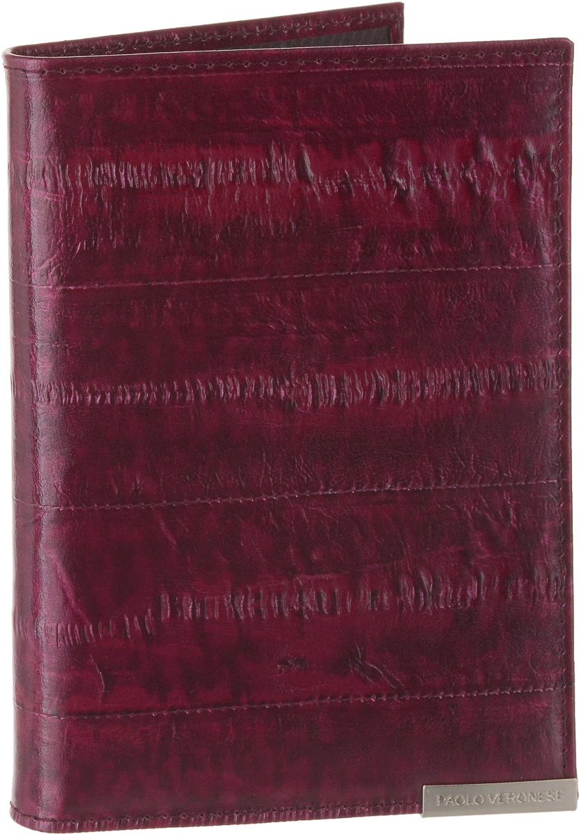 Обложка для паспорта женская Paolo Veronese, цвет: красный. O057-A01-02 обложка для паспорта женская neri karra цвет белый красный 01402 02 12 05