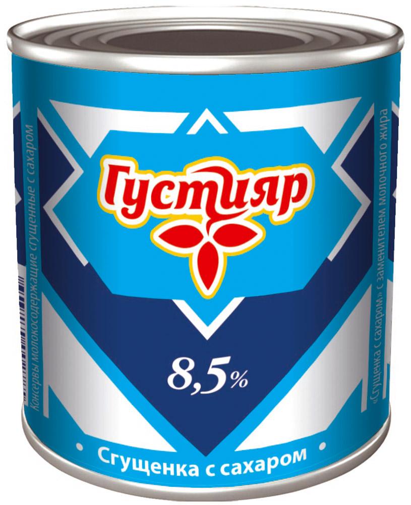 Союзконсервмолоко Густияр сгущенка с сахаром, 380 г чай gold kili быстрорастворимый имбирный напиток с коричневым сахаром 180 г