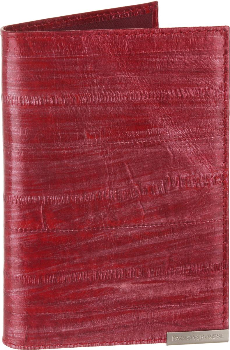 Обложка для паспорта женская Paolo Veronese, цвет: красный. O057-A01-00Натуральная кожаОбложка для паспорта Paolo Veronese из натуральной кожи. Внутри карманы из пластика. Размеры (XxYxZ): 97х138х4