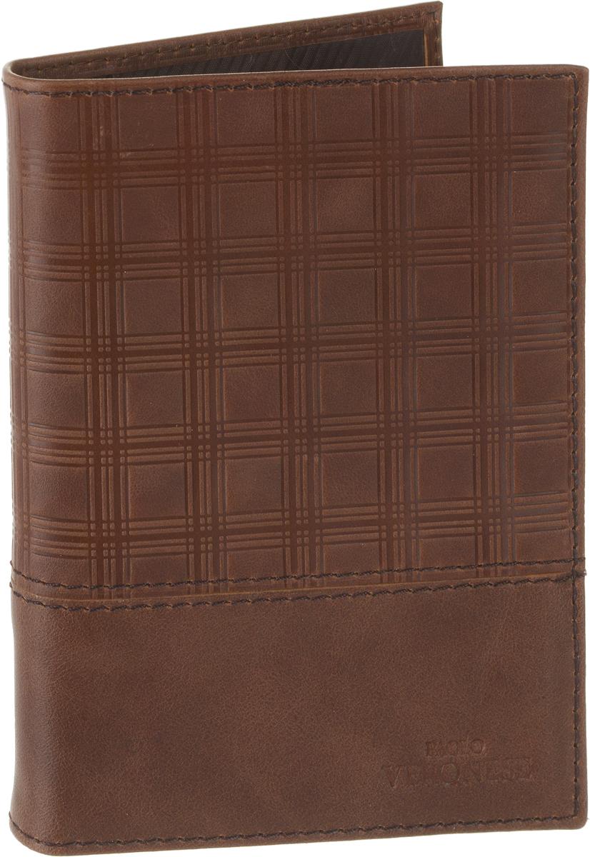 Обложка для паспорта мужская Paolo Veronese, цвет: коричневый. PV-NK042-OP0757-000Натуральная кожаОбложка для паспорта Paolo Veronese из натуральной кожи. Внутри карманы из пластика. Размеры (XxYxZ): 97х138х4