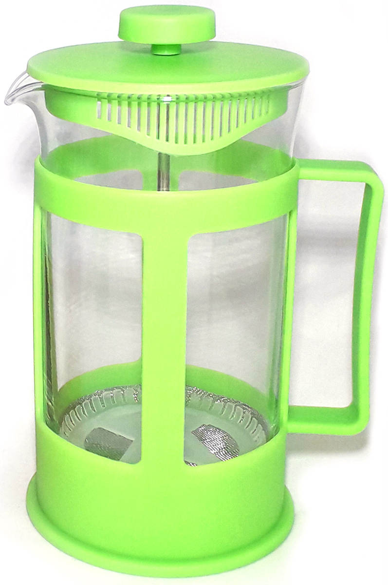 Кофейник стеклянный МФК-профит, цвет: зеленый, 600 мл щетка для посуды мфк профит цветы цвет розовый 17 5 x 7 x 5 см