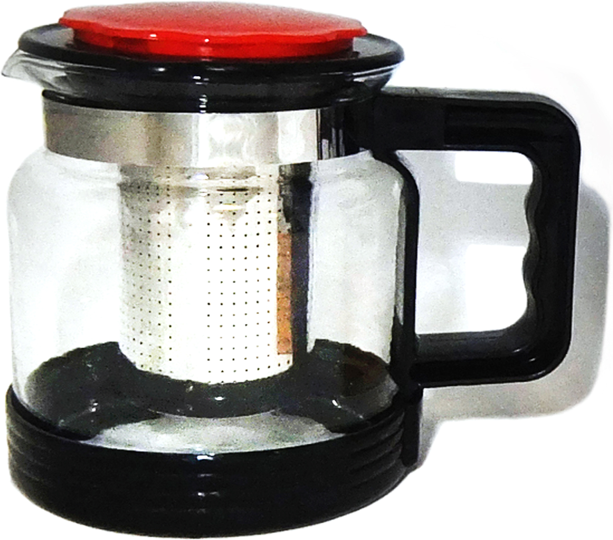 """Чайник стеклянный 750 мл  Стекло, пластик, нержавеющая стальЧайник стеклянный 750 мл """"ЧЕРНЫЙ-КР"""" в под.уп."""