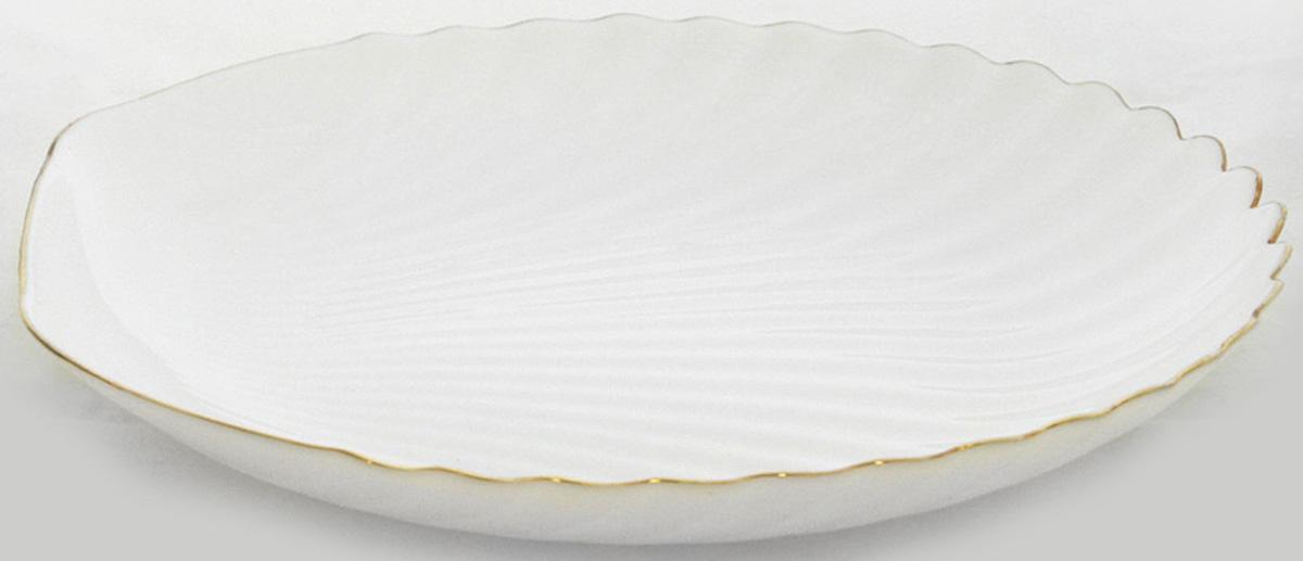 """Оригинальная тарелка из тонкой стеклокерамики  выгодно подчеркнет интерьер вашей кухни.Тарелка десертная """"ГРАЦИЯ"""" 20 см"""