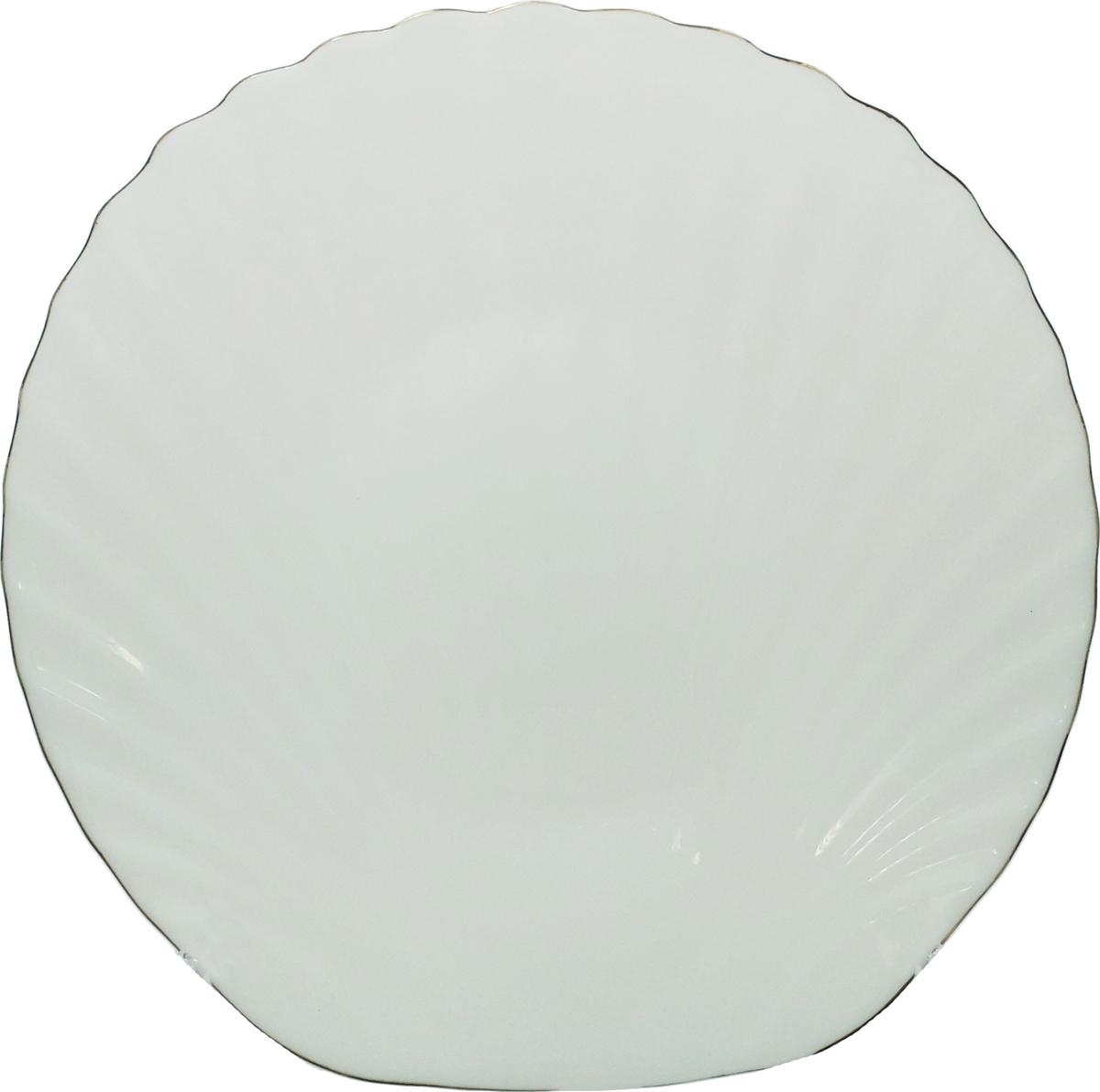 Тарелка обеденная Chinbull Грация, диаметр 27 смLBKP-105/JОригинальная тарелка из тонкой стеклокерамики выгодно подчеркнет интерьер вашей кухни. Изящный дизайн придется повкусу и ценителям классики, и тем, кто предпочитает утонченность.Тарелка Chinbull идеально подойдет для сервировкистола и станет отличным подарком к любому празднику. Не рекомендуется использовать в микроволновой печи.