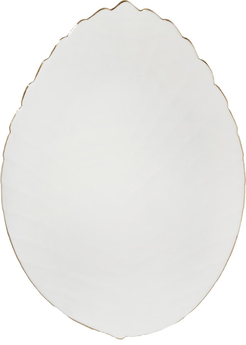 Тарелка глубокая из тонкой стеклокерамики с золотистым кантом. Оригинальная тарелка из тонкой стеклокерамики выгодно подчеркнет интерьер вашей кухни. Легкий и простой дизайн с пастельными красками идеально подойдет для любой кухни.