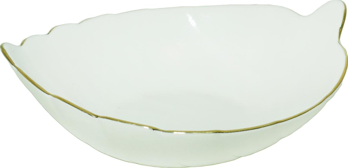 Салатник изготовлен из керамики. Внутренние стенки оформлены красивым узором. Такой салатник прекрасно подойдет как для торжественных случаев, так и для повседневного использования. Идеален для салатов, закусок, соусов.  Можно использовать в посудомоечной машине и СВЧ.