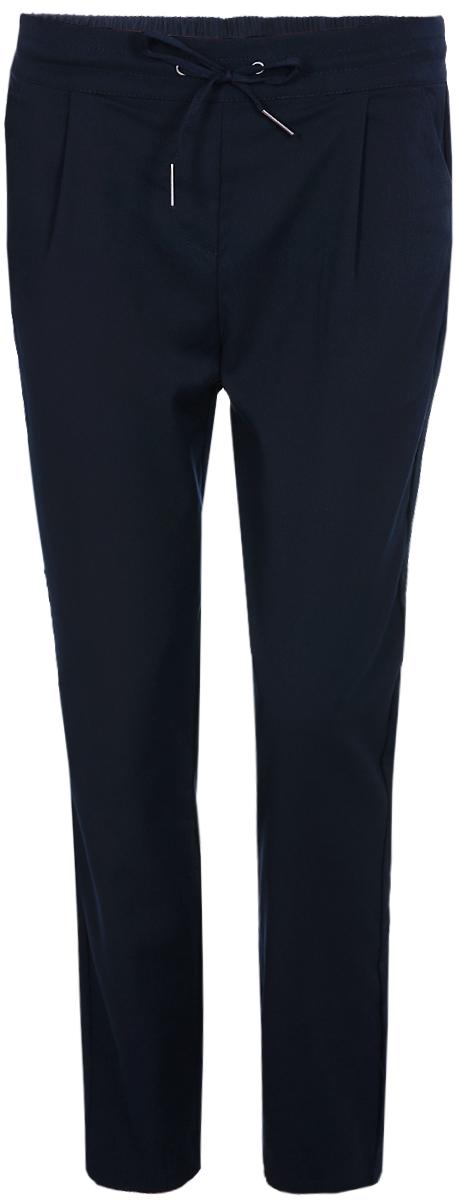 Брюки женские Vero Moda, цвет: синий. 10183272. Размер M-32 (44-32) пальто женское vero moda цвет черный 10159249 размер m 44