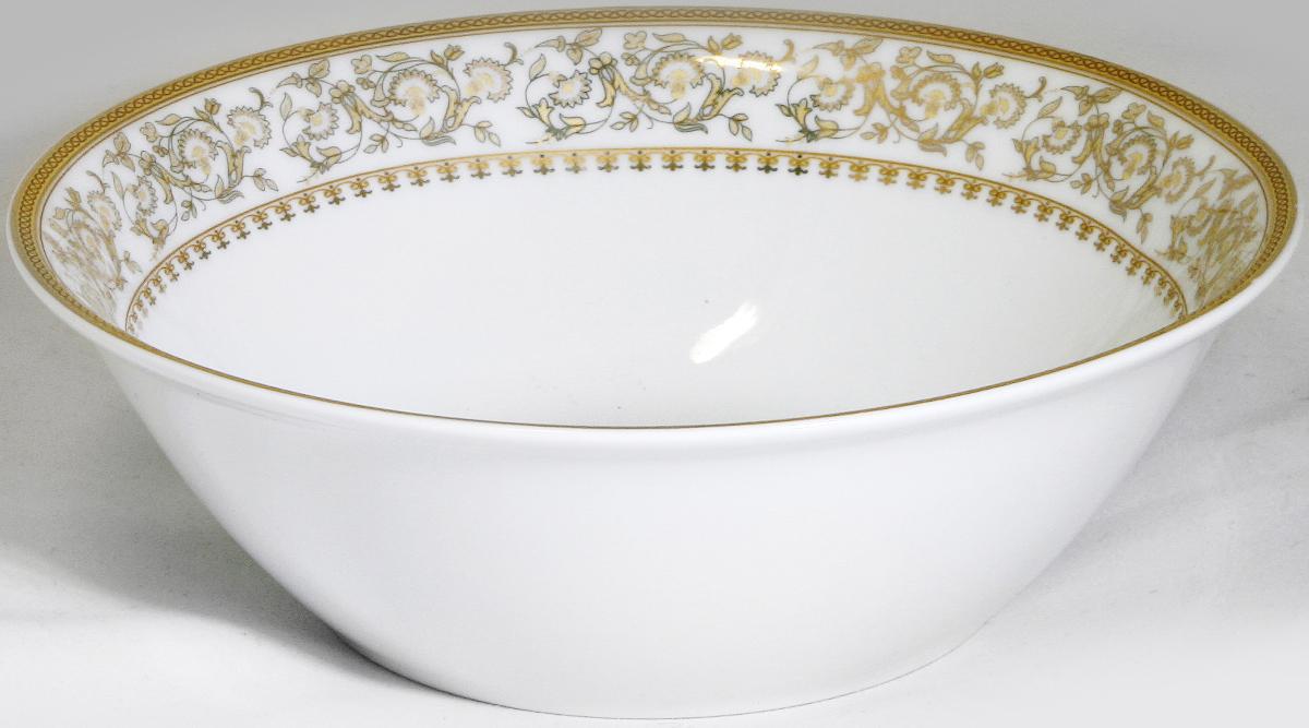 Салатник МФК-профит Империя, диаметр 14 смMFK07Салатник МФК-профит изготовлен из керамики. Внутренние стенки оформлены красивым узором. Такой салатник прекрасно подойдет как для торжественных случаев, так и для повседневного использования. Идеален для салатов, закусок, соусов.Можно использовать в посудомоечной машине и СВЧ.