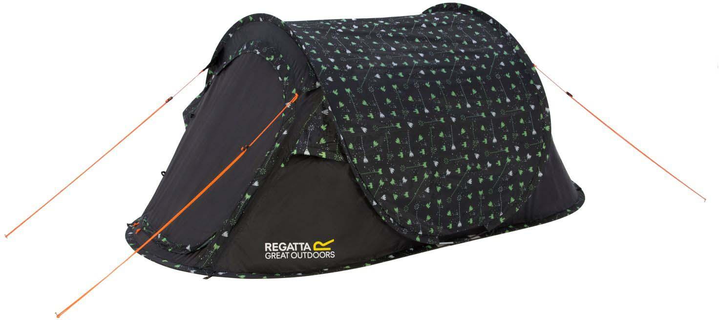 """Палатка Regatta """"Malawi 2 Print"""", 2-местная, цвет: зеленый, серый"""