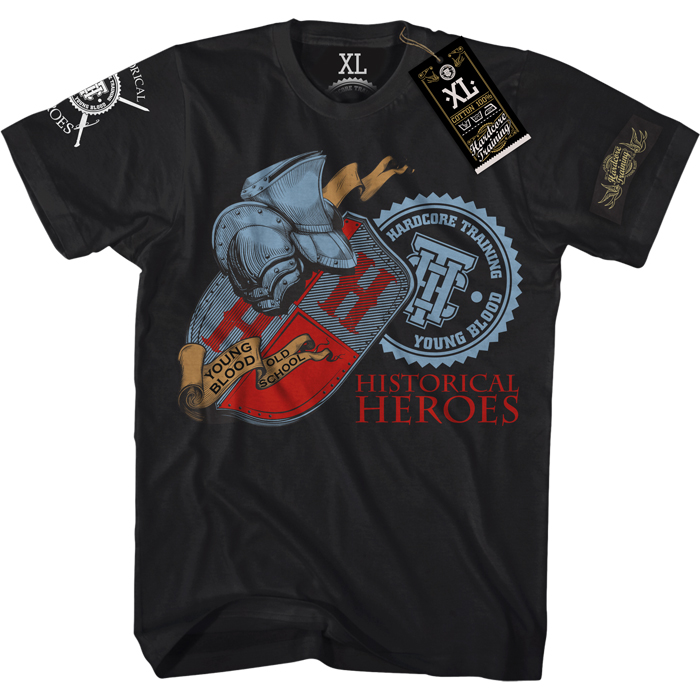 Футболка мужская Hardcore Training Historical Heroes, цвет: черный. hctshirt082. Размер S (46) лонгслив спортивный hardcore training hardcore training ha020emqmf42