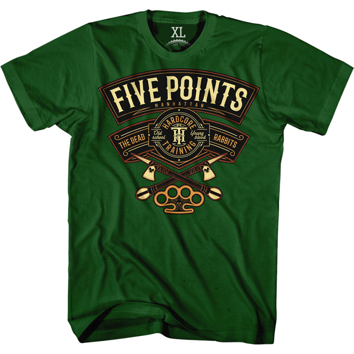 Футболка мужская Hardcore Training Five Points, цвет: зеленый. hctshirt0140. Размер S (46) лонгслив спортивный hardcore training hardcore training ha020emqmf42