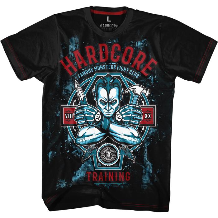 Футболка мужская Hardcore Training Famous Monster Fight Club, цвет: черный. hctshirt0156. Размер S (46)