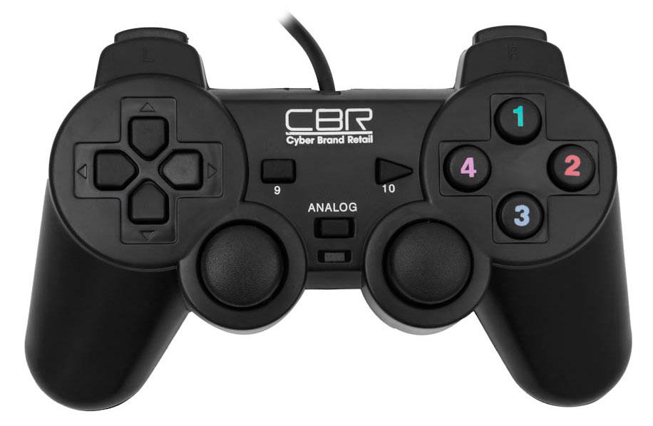CBR CBG 910 геймпад для PCCBG 910CBG 910 является полноценным игровым манипулятором для персональных компьютеров и ноутбуков. Органы управления представлены, во-первых, классическим пультом со стрелками, во-вторых, двумя аналоговыми джойстиками, которые позволят совершать более сложный комплекс движений, например, управлять пушкой танка и направлением движения гусениц одновременно и, в-третьих, 12 функциональными кнопками. Отдельно нужно отметить два встроенных вибромотора, которые передают вибро-отклик на события, запрограммированные для конкретной игры, например, взрыв, ранение героя и т.п. CBG 910 соединяется с компьютером при помощи USB-кабеля длиной 1,5 м и совместим практически со всеми версиями Windows.