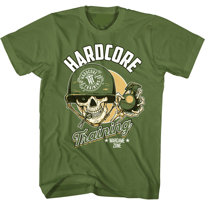 Футболка мужская Hardcore Training Grenadier, цвет: зеленый. hctshirt0200. Размер S (46) лонгслив спортивный hardcore training hardcore training ha020emqmf42