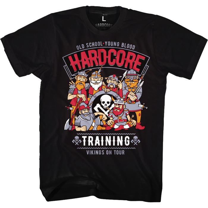 Футболка мужская Hardcore Training Vikings On Tour, цвет: черный. hctshirt0208. Размер S (46) лонгслив спортивный hardcore training hardcore training ha020emqmf42