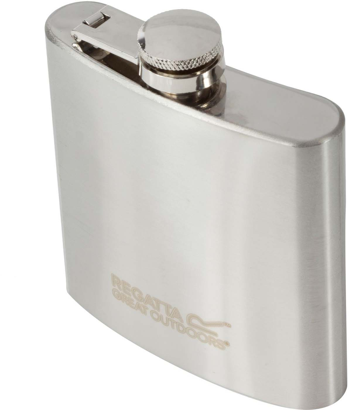 Фляга спортивная Regatta Hip Flask. цвет: серый, 170 млRCE123Фляга для напитков из нержавеющей стали, объем 0,17 л. Компактный дизайн.