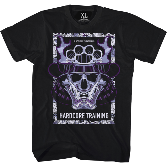 Футболка мужская Hardcore Training Chrysanthemum, цвет: черный. hctshirt0220. Размер S (46) лонгслив спортивный hardcore training hardcore training ha020emqmf42