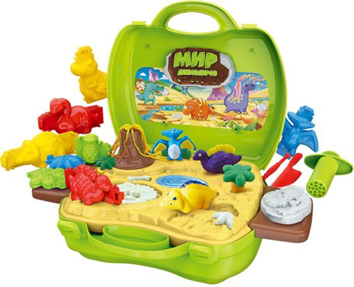 1TOY Игровой набор Мир Динозавров 26 предметов игровой набор 1toy мастер шеф пицца в чемоданчике с аксессуарами