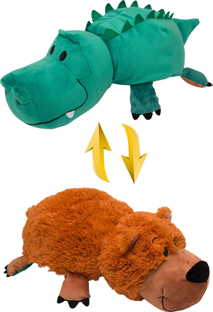 Zakazat.ru: 1TOYМягкая игрушкаВывернушка 2в1 Аллигатор-Медвежонок 20 см