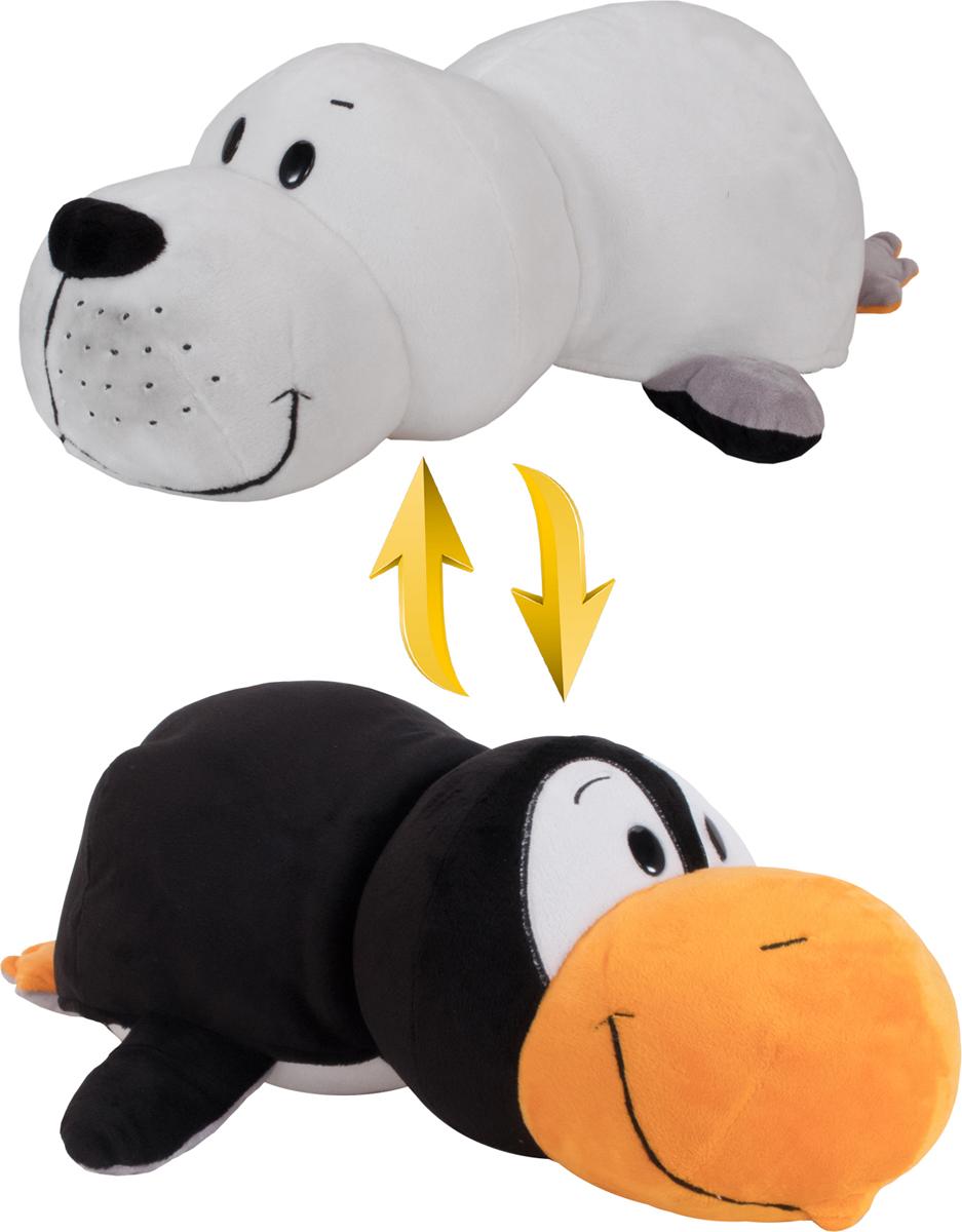 1TOYМягкая игрушкаВывернушка 2в1 Пингвин-Морской котик 20 см - Мягкие игрушки