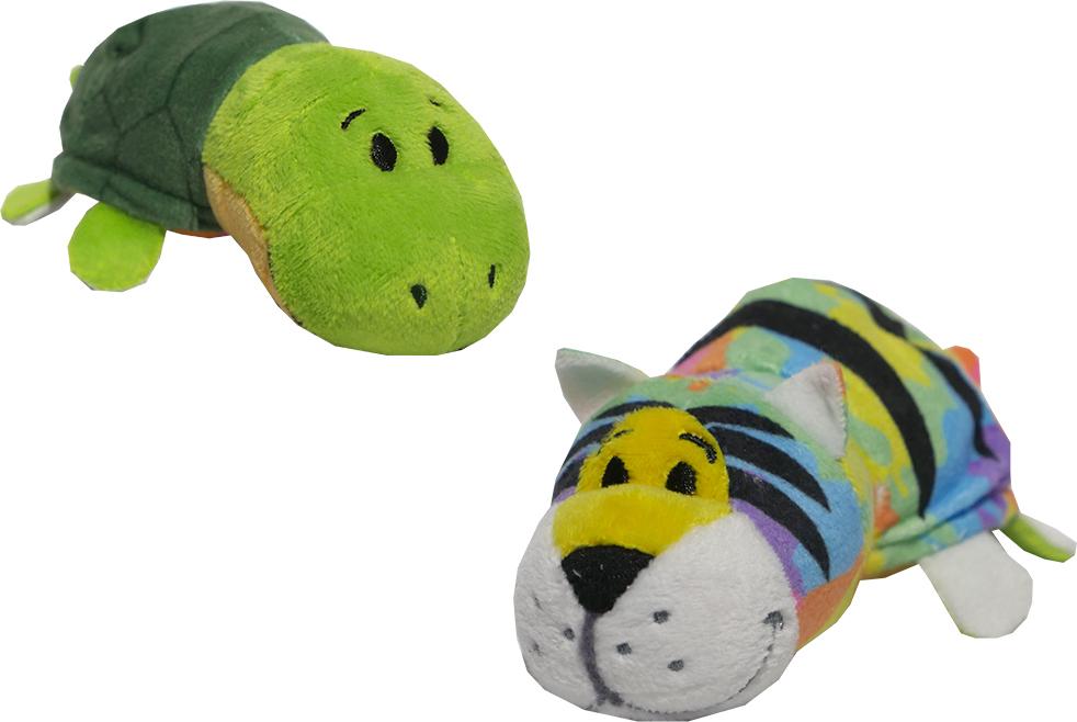 Zakazat.ru: 1TOYМягкая игрушкаВывернушка 2в1 Радужный тигр-Черепаха 12 см