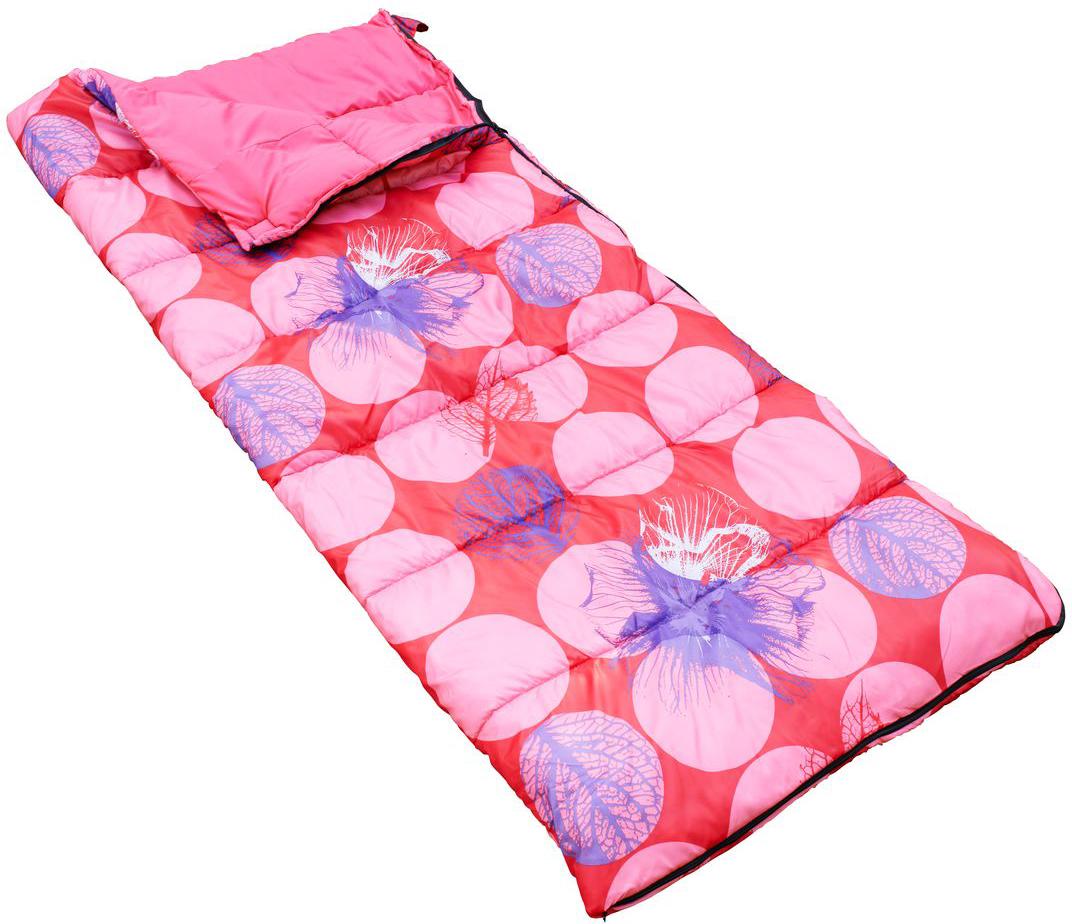 Мешок спальный Regatta Maui Single, цвет: ярко-розовый, левосторонняя молния, 190 x 80 см