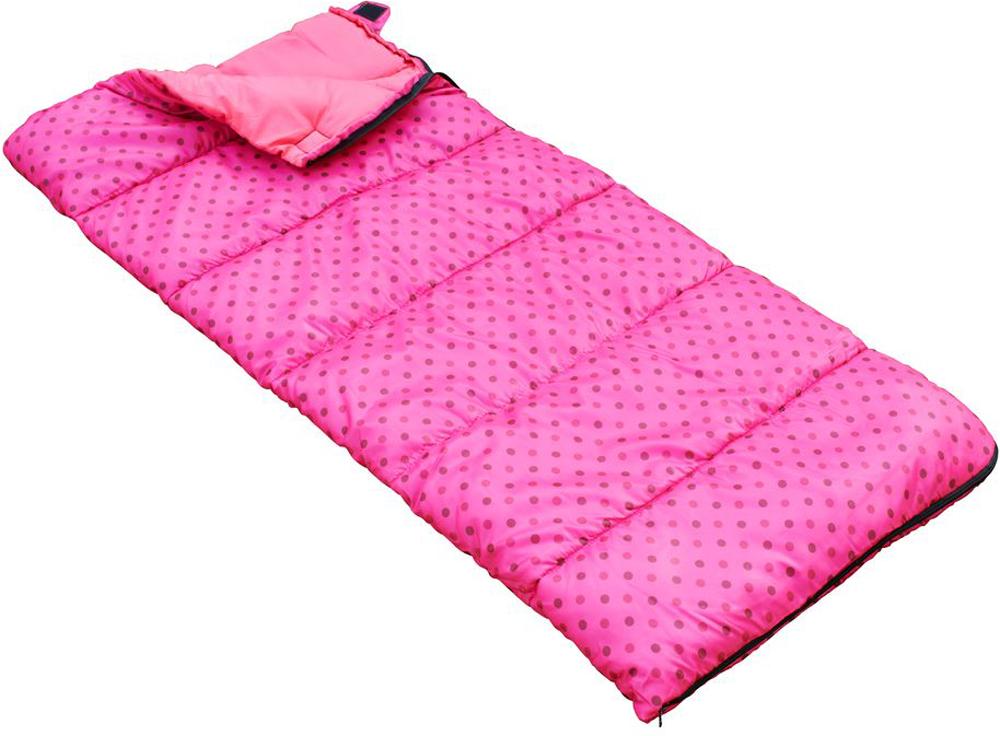 Мешок спальный Regatta Maui Kids, цвет: розовый, левосторонняя молния, 145 x 65 см