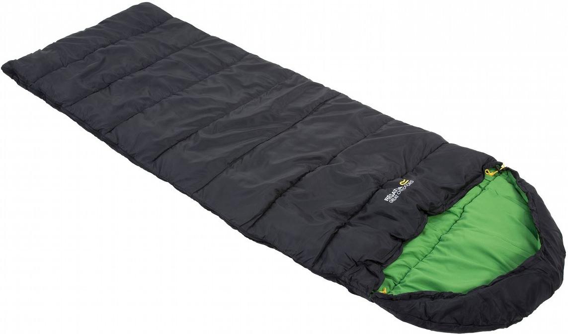 Мешок спальный Regatta Hana 200, цвет: черный, левосторонняя молния, 220 x 80 x 75 см