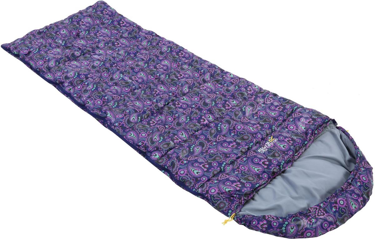 """Мешок спальный Regatta """"Hana 200"""", цвет: фиолетовый, левосторонняя молния, 220 x 80 x 75 см"""