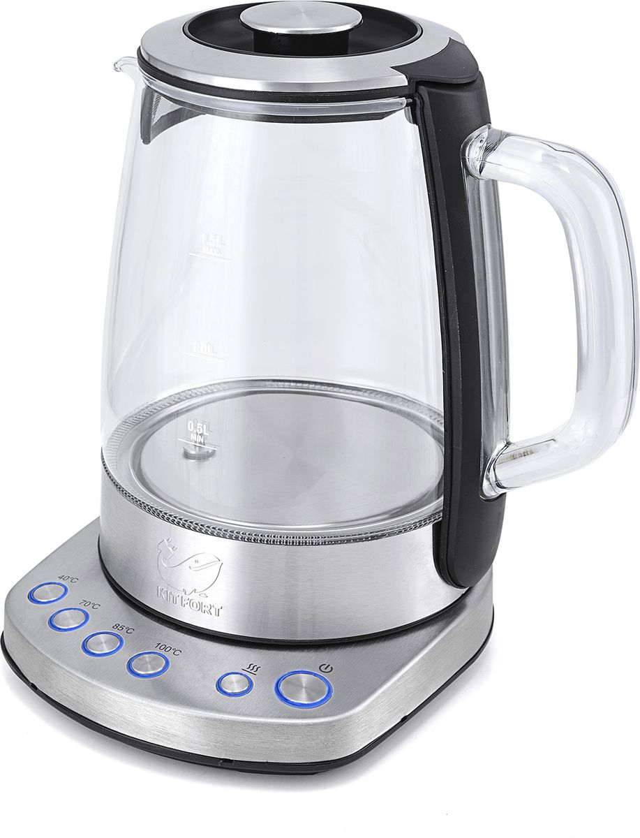 Kitfort Т-626, Silver чайник электрический