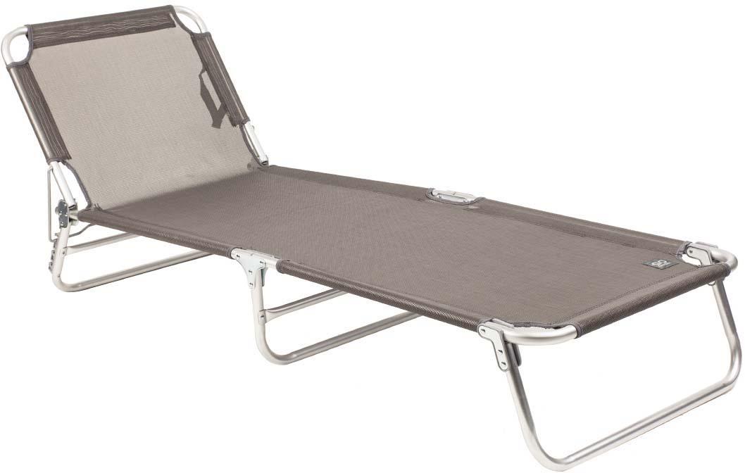 Раскладушка DREEM - многофункциональный предмет мебели. В отличие от шезлонга на ней можно не только загорать и отдыхать на свежем воздухе, но и использовать ее как дополнительное спальное место как на даче, так и в городе.  Раскладушку можно хранить на открытом воздухе в течение всего сезона так как сиденье сделано из сетчатого материала TEXTILENE устойчивого к ультрафиолетовому излучению и образованию плесени. Благодаря своей структуре материал не впитывает влагу, быстро сохнет и очень простой в уходе. 4-х позиционная регулировка наклона спинки позволяет принять наиболее комфортное положение.  Рама из алюминия делае раскладушку очень легкой, всего 3,8 кг. Улучшеная фурнитура регулировочного элемента спинки. В сложенном состоянии не занимает много места, имеет удобные лямки для переноски.  - 4-х позиционная регулировка подголовника - Алюминиевая рама - Очень легкий вес - Лямка для переноски - Материал имеет хорошую пространственную стабилизацию - Защита от УФО - Быстро сохнет - В сложенном состоянии не занимает много места. Характеристики: Материал: прочный сетчатый материал стойкий к ультрафиолетовому излучению Рама: 22 мм алюминий Размер в разложенном виде: 187х58х24 см Размер в сложенном виде: 55х77х12 см Вес: 3,8 кг Нагрузка: 100 кг Производство: Китай Артикул: 50308