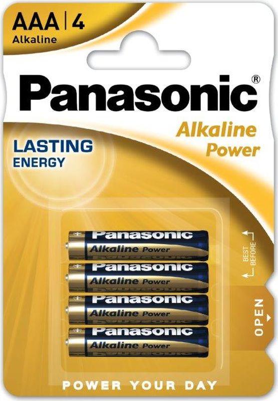 Батарейка щелочная Panasonic Alkaline Power, LR03 (AAA), 1,5В, 4 шт батарейки panasonic everyday power silver aaa 2 шт