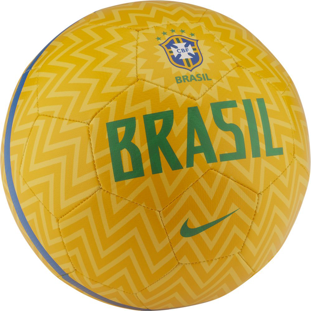 Мяч футбольный Nike Brasil Cbf Prestige, цвет: желтый. Размер 5SC3237-750